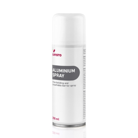 "white and grey spray can that says ""Aluminium Spray"""